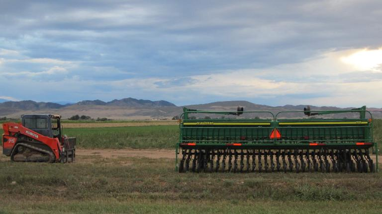 Tractor along the Front Range.