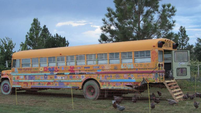 The Flower Bus at Grant Farms served as a chicken coop, I think.