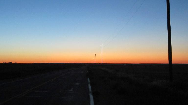 [Mile 18] Sunrise over eastern Colorado.