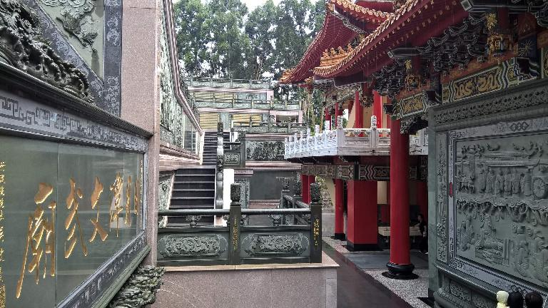 Outdoor hallway at the Wen Wu Temple in Yuchi Township, Taiwan.