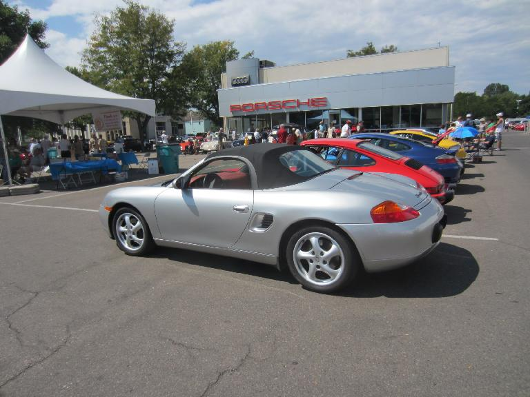 The only Boxster at the show: a 1997 model.