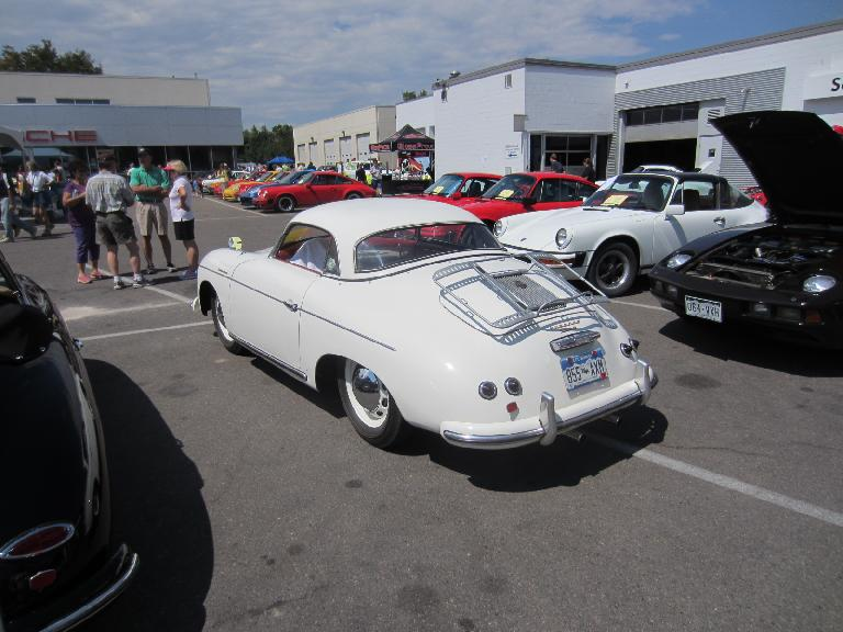 Porsche 356 Spyder with a hardtop I've never seen before.