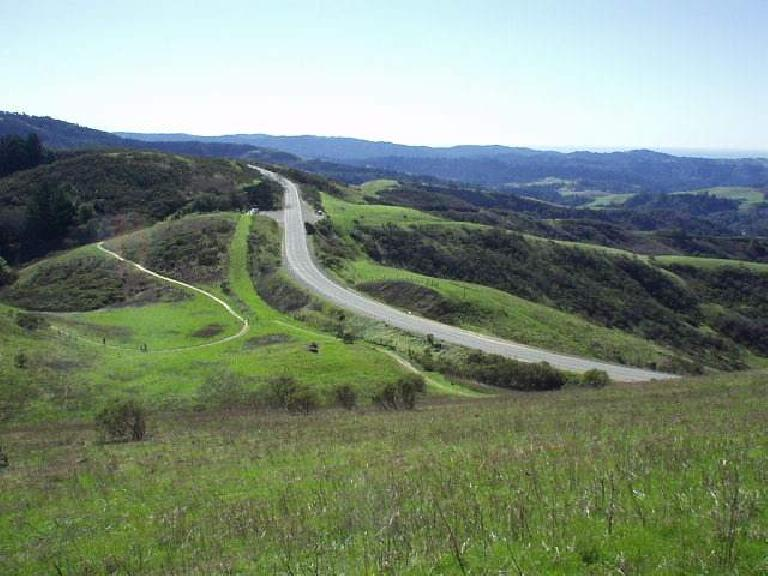 At the top was Skyline Blvd., a favorite road of motorists and sports car drivers alike.