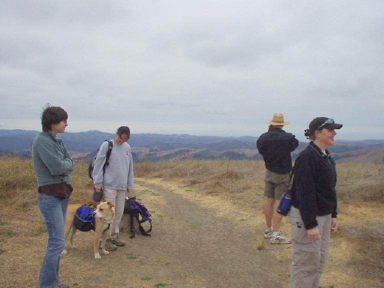 Sarah, Bue, Evelyn, Adrian, and Sheila at the top, which was quite windy.  It was a fun hike.
