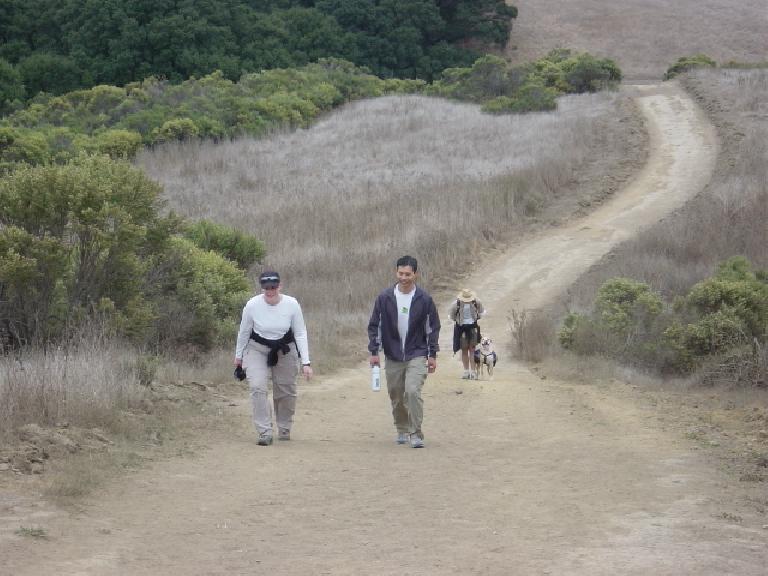 Sheila, Felix, Adrian, and Bue on the way up. Photo: Sarah Toas.