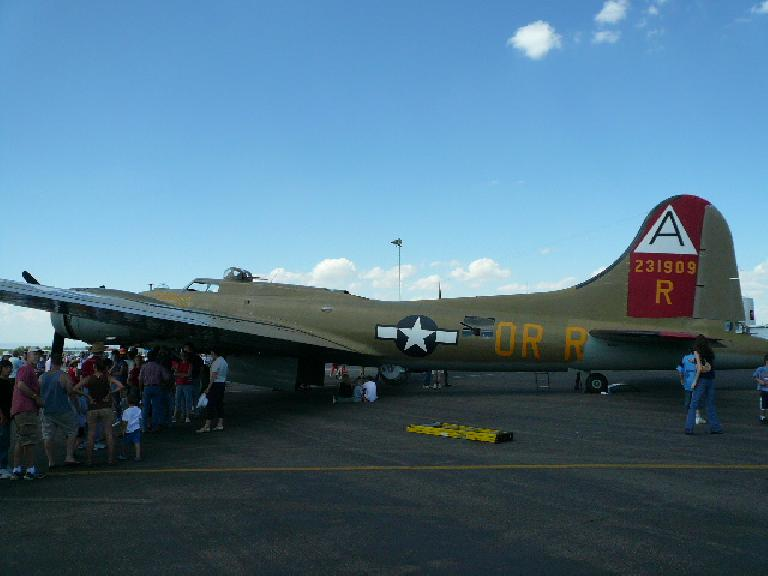 The Collings Foundation brought their Wings of Freedom exhibit to the Fort Collins-Loveland Airport after a two-year hiatus.  This is a B-17G.