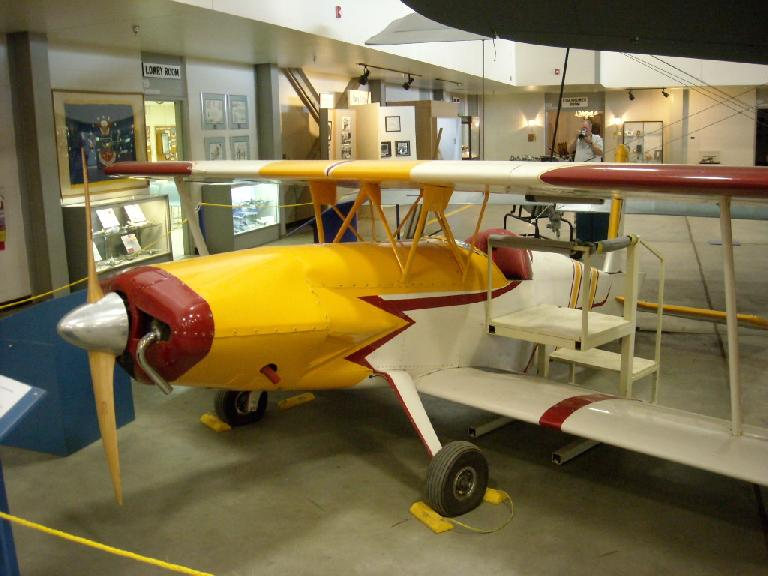 A restored plane probably dating back to WWI.