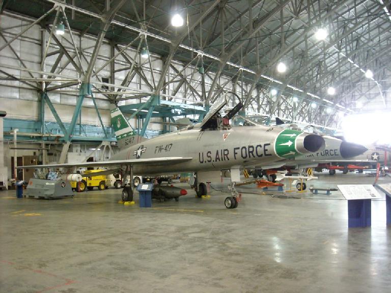 A U.S. Air Force F-100D Super Sabre built in the 1950s.