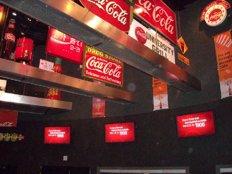 Coca-Cola signs.