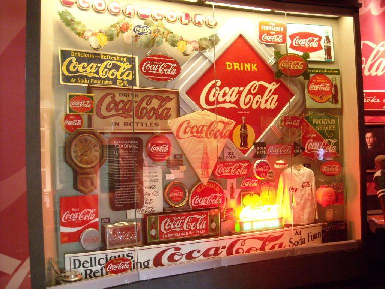 More Coca-Cola signs.