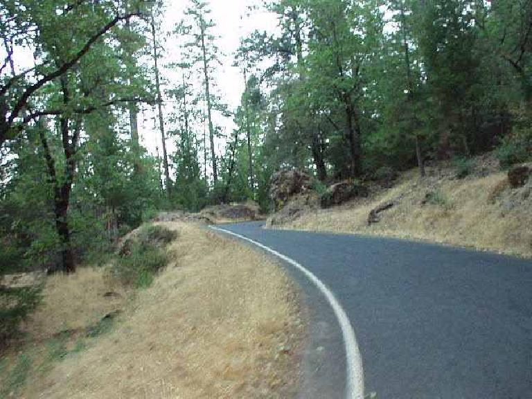 Mile 21: One of the many S-turns on this scenic climb.