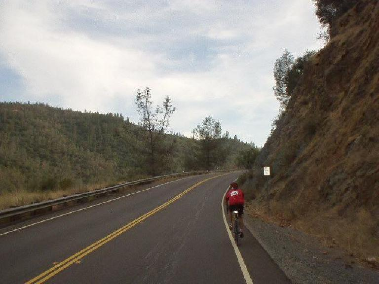 Mile 132: Last significant climb: a 2-mile ascent up Hwy 49 to Auburn.  Two other very fit cyclists and I hammered up this thing.