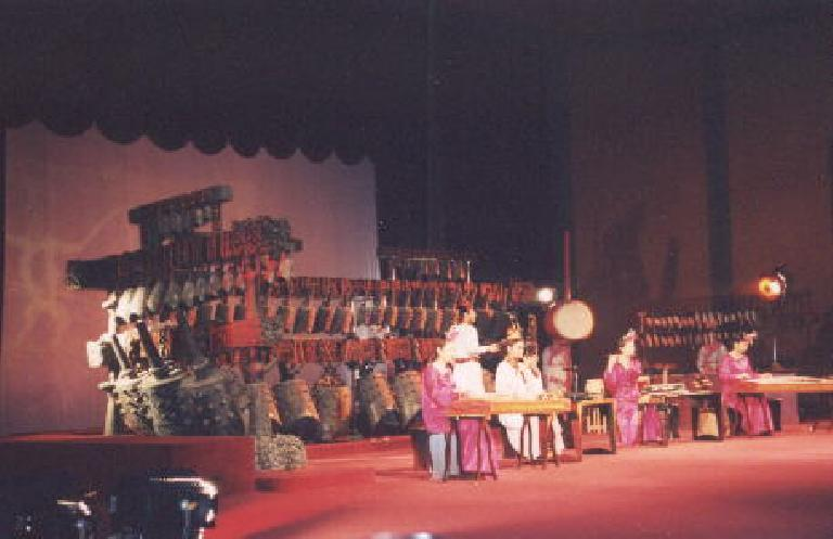 We got to see a music performance with old drums and dancers.
