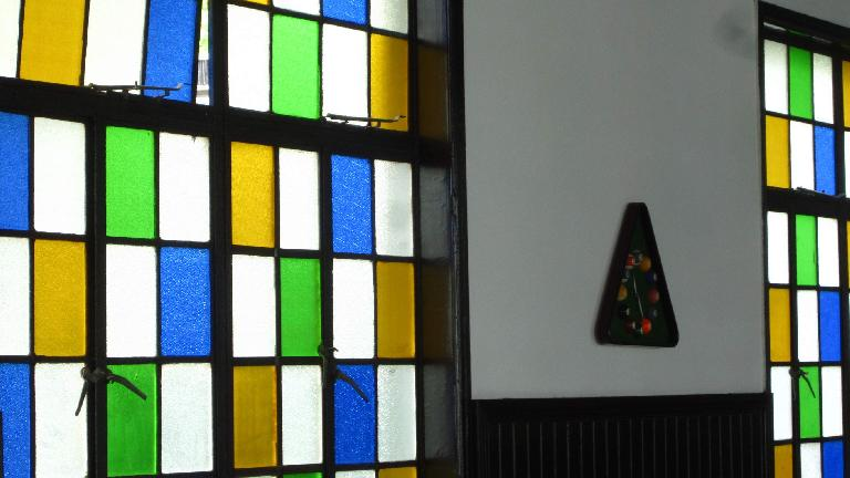 Stained glasswork at Xue Family Garden.