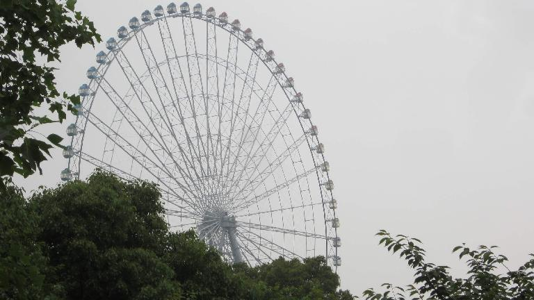 The Star of Lake Tai ferris wheel as seen from Lihu Park.