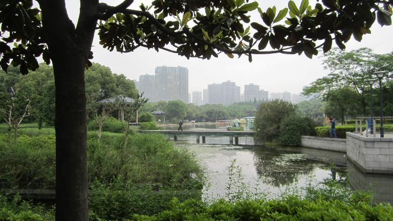 Wuxi as seen from Lihu Park.