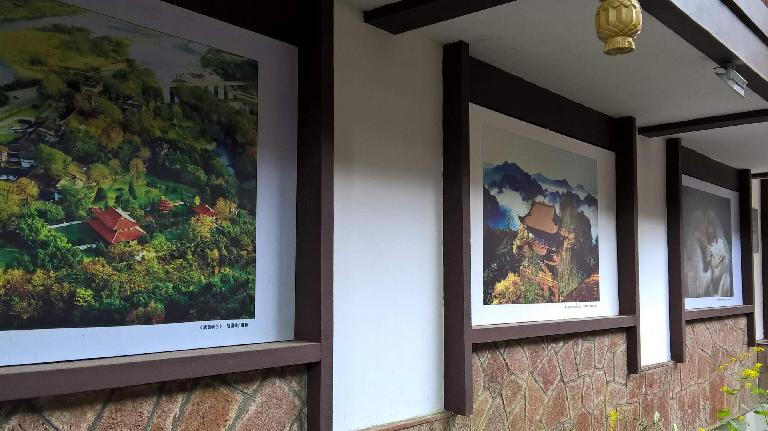 Paintings in a villa near Mount Wuyi.