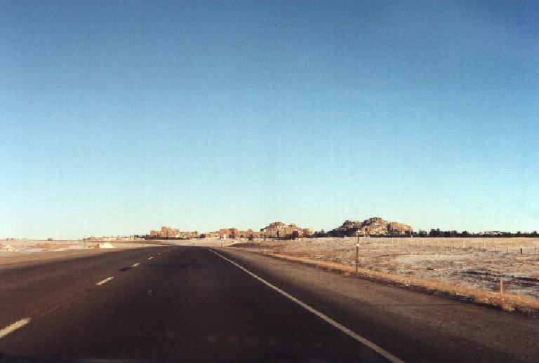 Rock formations in Wyoming. (January 31, 2000)