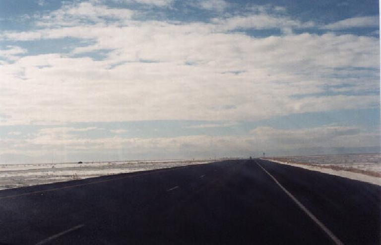 The Salt Flats from Utah to Nevada. (January 31, 2000)