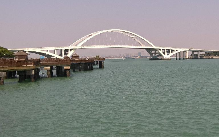 Bridge over Dongjiu Harbor in Xiamen, China.
