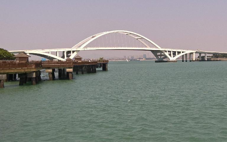 Bridge over Dongjiu Harbor in Xiamen, China.