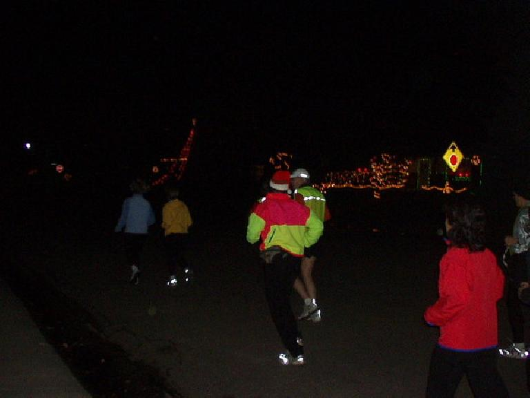 Starting at 6:40p, about a dozen of us from the Fort Collins Running Club went for a leisurely run to check out some Christmas lights.