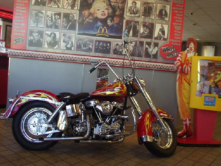 There was even a Harley-Davidson inside!