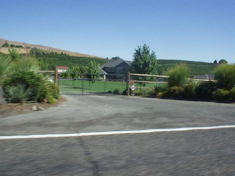 ... to stately estates with acreage and vineyards farther away...