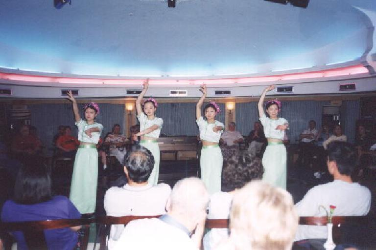 During the Victoria talent show, Karen snapped this pic for me saying she was taking a picture of my future girlfriend.  But which one is she? (May 31, 2002)
