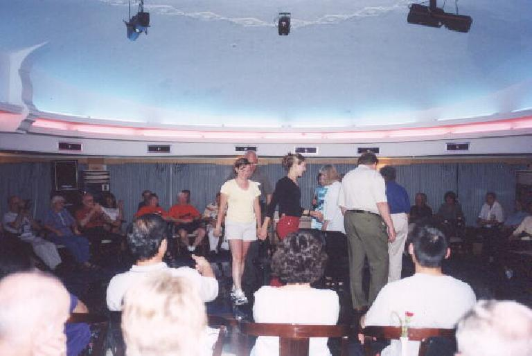 Karen in the musical chairs contest. (May 31, 2002)