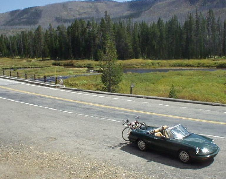This was a fun drive with the Alfa, with narrow sweeping roads with lots of lodgepole pine for scenery.