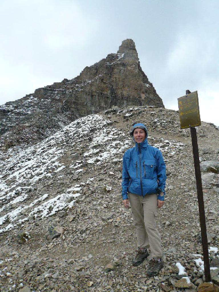At the top of the trail, at 2,530 meters (8,300 feet) in elevation.