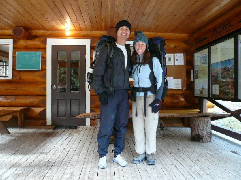 Felix Wong and Lisa about to commence their hike around several alpine lakes in Yoho National Park.
