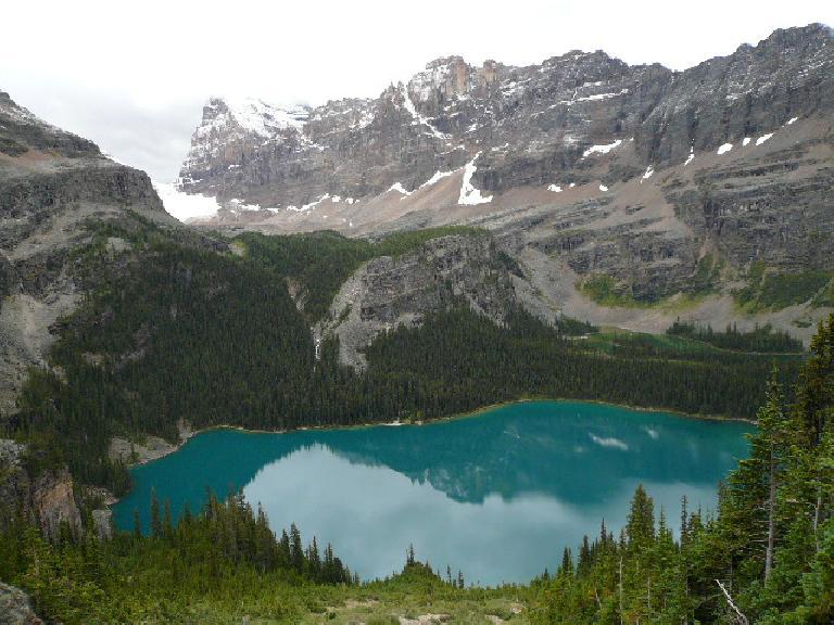 Lake O'Hara was wonderfully turquoise.