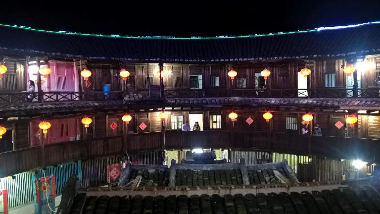 A Yongding Hakka Tulou walking distance from the Hakka Tulou Prince Hotel in Yongding, China.