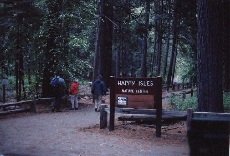 The start of a happy hike from Happy Isles!