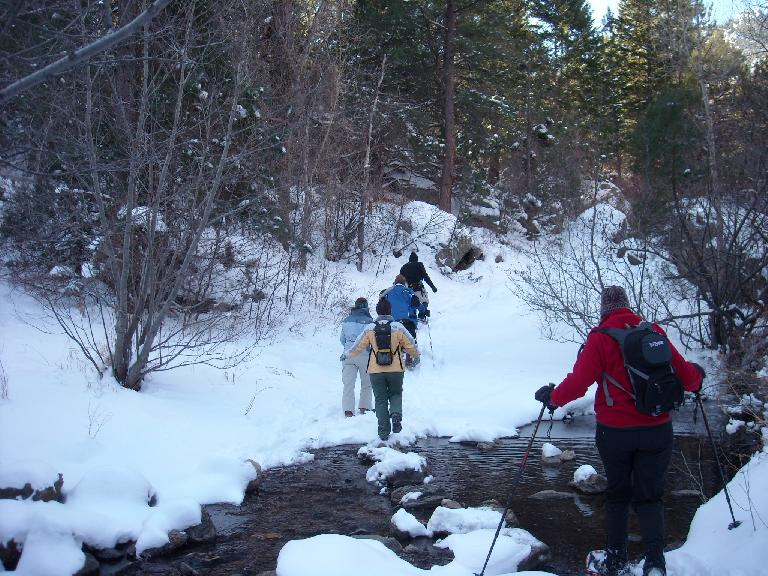 Lots of stream crossings were here.