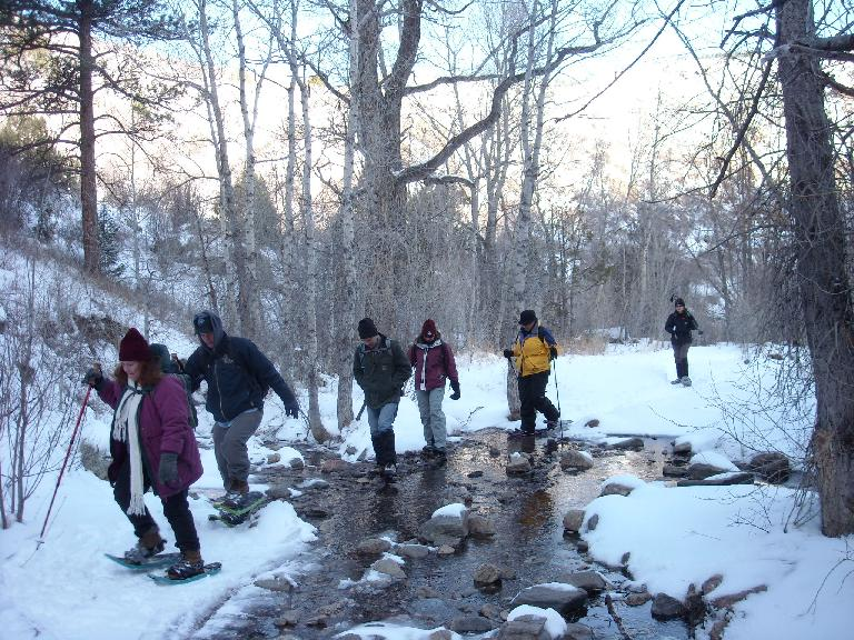 A couple days after a snowstorm, a group of us from Fort Collins went out to Young Gulch in the Poudre Canyon to do some snowshoeing.
