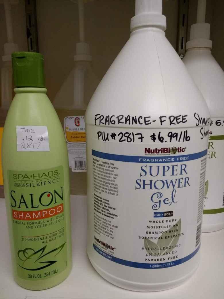 NutriBiotic Super Shower Gel sold in bulk at the Fort Collins Food Co-op.