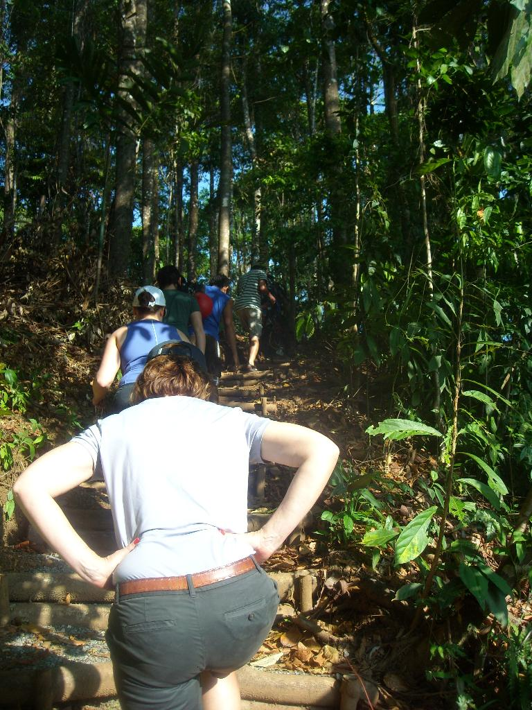 A short hike out after the 11th zip-line.