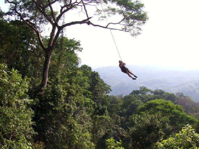Raquel on the Tarzan swing. Photo: Raquel Engel.
